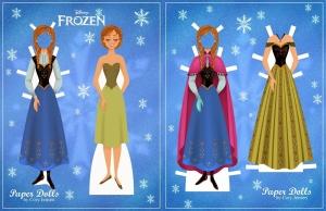boneca de papel colorida e roupas Anna